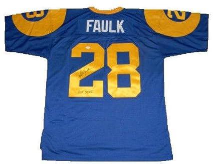 Marshall Faulk Signed Jersey -  28 Mitchell   Ness - JSA Certified ... fc6227d48
