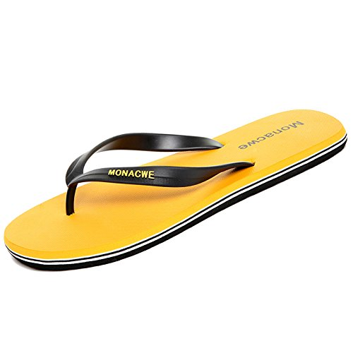 estivi AIHUWAI Sandali infradito Antiscivolo maschili Outdoor Uomo Yellow Scarpe Sandali con Sandali Uomo Sandali Sandali Infradito wXpgFXq