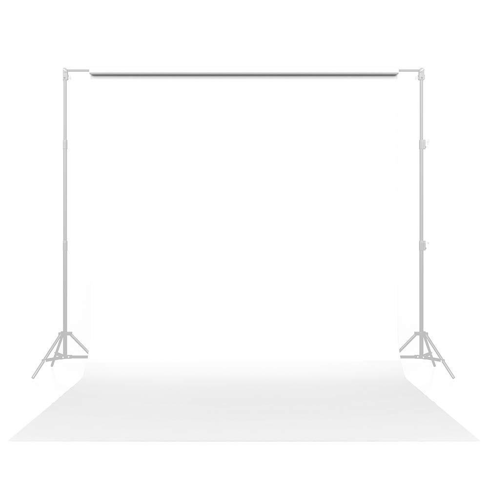 Savage Seamless Paper Photography Backdrop - #66 Pure White (107 in x 36 ft) Made in USA