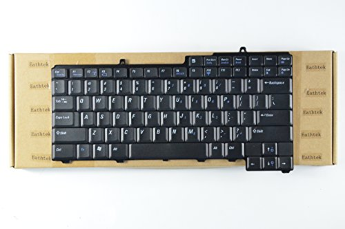 - Eathtek Replacement Keyboard for Dell Inspiron 1300 B120 B130 Latitude 120L series Black US Layout, Compatible with part number UG697 PP21L TD463 0TD463 TD459 9J.N6782.G01