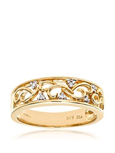 Revoni - Bague en or jaune 9 carats et diamants