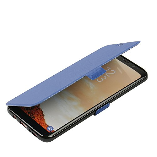 Funda Samsung Galaxy A5 (2015), MTRONX Cover Carcasa Case Caso Ultra Folio Flip Prima PU Cuero Suave TPU Delgado Billetera Piel con Cierre Magnetico Soporte Estante Ranura para Tarjetas para Samsung G Azul