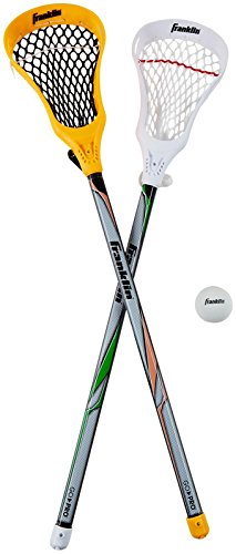 Franklin Sports Lacrosse 2 Stick and 1 Ball Set, Orange by Franklin Sports