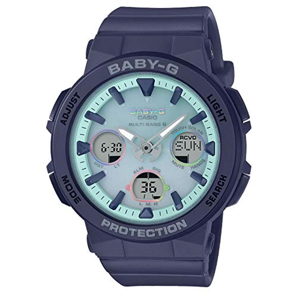 [해외] [카시오] 손목시계 BABY-G BEACH TRAVELER 전파 솔라 BGA-2500-2A2JF 레이디스 블루