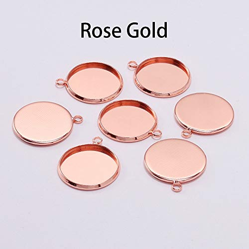 Pendant Trays - 20pcs/lot 10 12 16 mm Round Silver Cabochon Base Tray Bezels Blank Setting Supplies for Jewelry Making Findings Bracelet Pendant