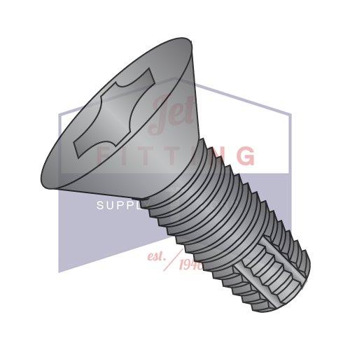 1/4-20 x 2 1/4'' Type F Thread Cutting Screws / Phillips / Flat Head / Steel / Black Oxide (QUANTITY: 900 pcs)