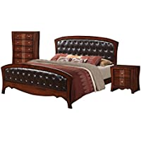 Elements Jansen 3 Piece Queen Bedroom Set in Espresso