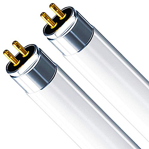 Luxrite LR20846 (2-Pack) F14T5/841 14-Watt 2 FT T5 Fluorescent Tube Light Bulb, Equivalent to 60W Incandescent, Cool White 4100K, 1140 Lumens, G5 Mini Bi-Pin Base ()
