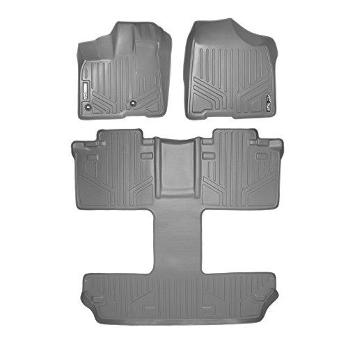 SMARTLINER Floor Mats 3 Row Liner Set Grey for 2013-2018 Toyota Sienna 7 Passenger Model ()