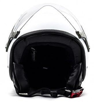 SOXON SP-325-MONO Titan /· Vespa-Helmet Chopper Moto-Helmet Biker Cruiser Scooter-Helmet Jet-Helmet Pilot Mofa Bobber Vintage Retro /· ECE certified /· incl Cloth Bag /· Grey /· L Visor /· incl 59-60cm