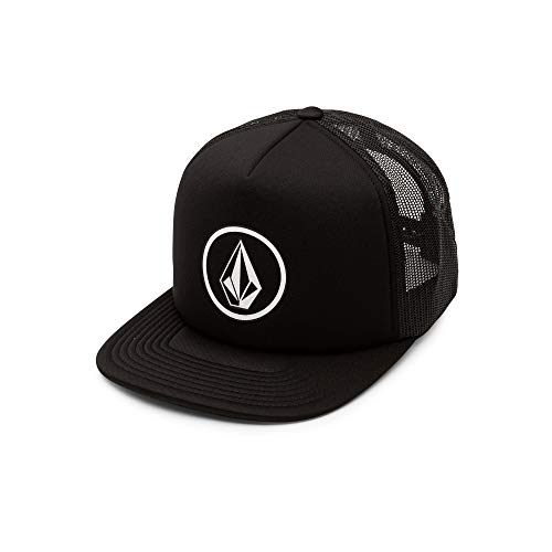 Volcom Men's Full Frontal Cheese 5 Panel Trucker Hat, Black, One Size