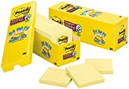 """Post-it Notes Super Sticky Notes, 3"""" x 3"""", 24 Pads, 90 Sheets/Pad, Can"""