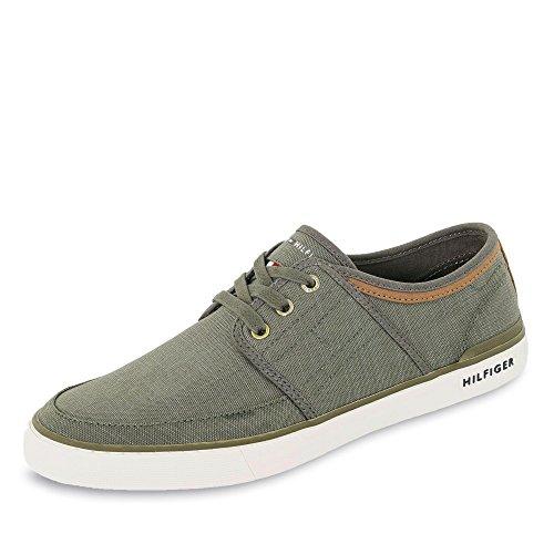 Textilmaterial Oliv Tommy Flexible Herren Hilfiger Laufsohle Sneaker FM0FM01384068 SAw6Uqg