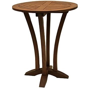 This item Outdoor Interiors Eucalyptus 30-Inch Diameter Round Bar Table