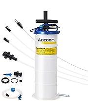 Aocoom 6.5 Liter Oil Changer Vacuum Transmission Fluid Evacuator Pneumatic/Manual Fluid Extractor with Pump Tank Remover and Brake Bleeding Hose Engine Oil Change & Fluid Change Tool