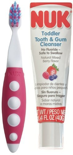 NUK Toddler Tooth and Gum Cleanser, 1.4 Ounce - 2 Pack by NUK