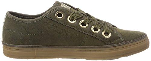 s.Oliver 23602-31, Sneakers Basses Femme Vert (Khaki 701)