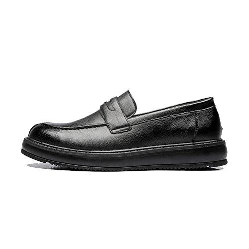 Mocassins Hommes Respirant 5mus Cuir Enfiler À Noir 6 Taille Habillées Semelles Oxford Chaussures Pour Gby Classiques color En De Pu Ville Décontractées XpSzq