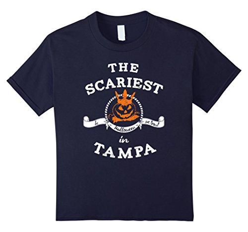 Kids The Scariest Pumpkin In Tampa Halloween T-Shirt Funny 12 (Halloween In Tampa)
