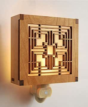Frank lloyd wright storer house block night light for Glass block r value