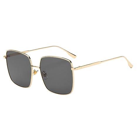 Gafas de sol, gafas de sol unisex con marco cuadrado y marco de acetato para