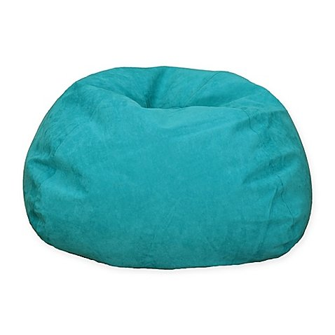 Large Microsuede Bean Bag Chair in Turquoise (turquoise) by Generic