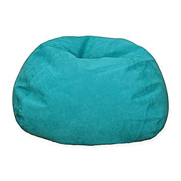 Fantastic Large Microsuede Bean Bag Chair In Turquoise Turquoise Ocoug Best Dining Table And Chair Ideas Images Ocougorg