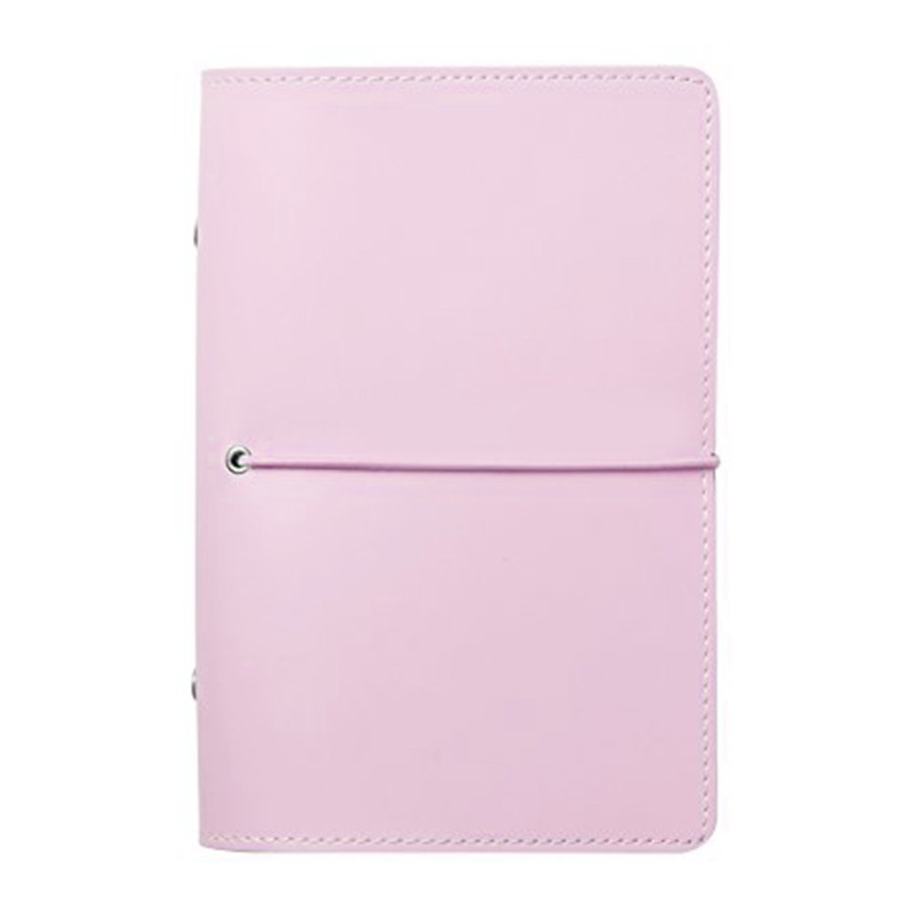 Labon's 6 Round Ring Binder Hardcover Refills Planner for Monthly Weekly Daily Schedule/2018 2019 2020 Calendar/Telephone & Address/Personal Memo 260 Pages Premium Thick Paper (A6, Pink)