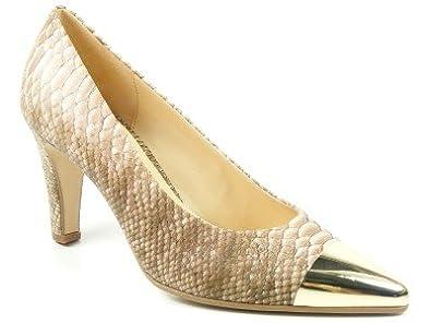 Gabor Schuhe Damen Pumps High Heels Weite F beige rose Boa Diamantina  61-170- 363b0737a1