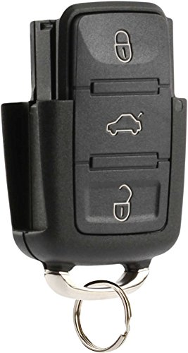 Flip Key Fob Keyless Entry Remote Shell Case & Pad fits VW Beetle Golf Jetta Passat 2002 2003 2004 2005 (HLO1J0959753AM) - Passat Golf