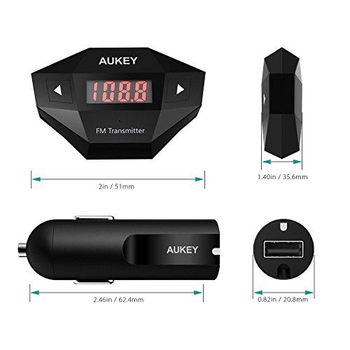 AUKEY-FM-Transmitter-Radio-Transmitter-Car-Kit-with-1-USB-Charging-Port-Compatible-with-all-Mobile-Audio-Devices