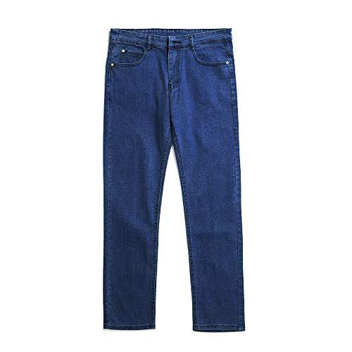 Spandex Zip Fly Jeans - XingHang Straight-Leg Jean in Classic fit Featuring Zip Fly with Button and Five-Pocket Styling (XXX-Large, Light Blue)