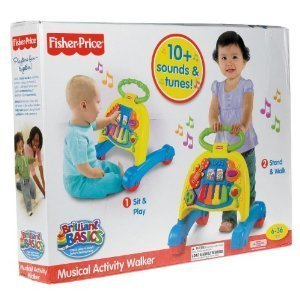 Fisher Price Brilliant Basics Musical Activity Walker  Age  6   24 Months