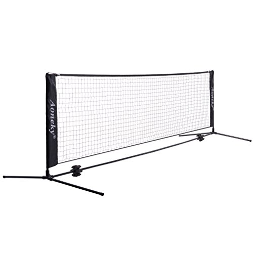 Aoneky Mini Portable Tennis Net for Driveway - Kids Soccer Tennis Net - Family Pickleball Tennis Game Toy for Boys Children Aged 6+ Years Old (10 Feet) (Best Portable Tennis Net)