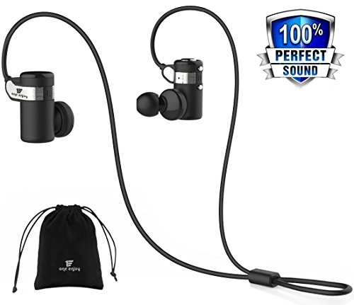 CCK Bluetooth Headphones Wireless Earbuds Sports Best Running Earphones Hi-Fi Stereo Noise Cancelling Sweatproof for Gym Workout Exercising In Ear Headsets Computer iphone Android (Black)