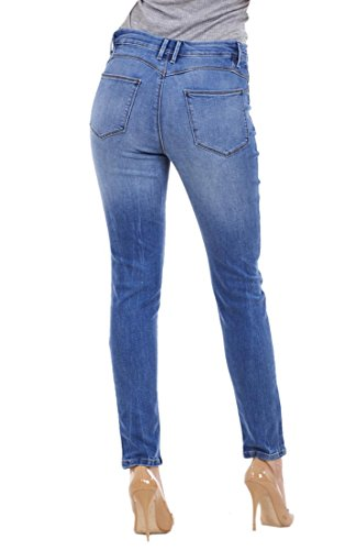 Stretch Medium Ladies Fit Jeans Cotton Skinny Womens Denim Slim Quality Blue qq67zZ