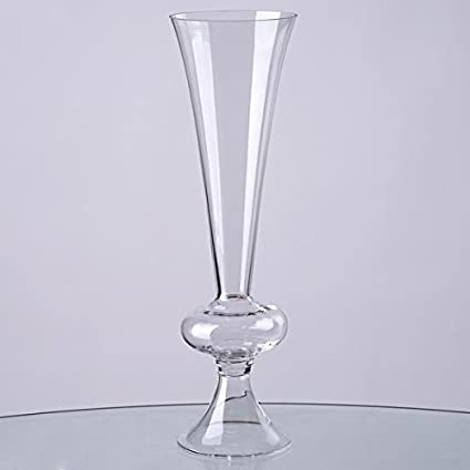 Amazon Efavormart 15 Tall Trumpet Pilsner Glass Floral Vase