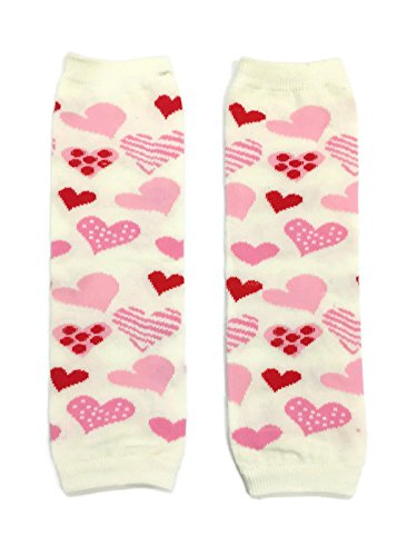 Rush Dance Valentine's Day Love Hearts Baby/ Toddler Leg Warmers (One Size, White with DIfferent Shape - Heart Different Shapes