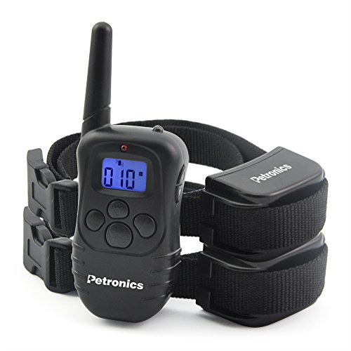 [Petronics 330 Yards Rechargeable Shock Collar with Remote, Electronic Dog Training Collar for 2 Dogs] (Nylon Training Collar)