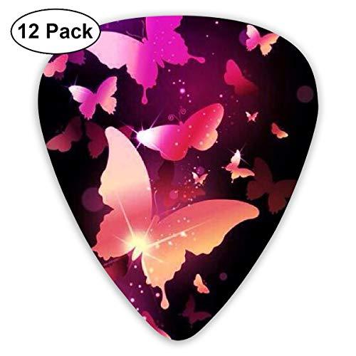 (351 Shape Classic Guitar Picks Digital Butterfly Art Plectrums Instrument Standard Bass 12 Pack)