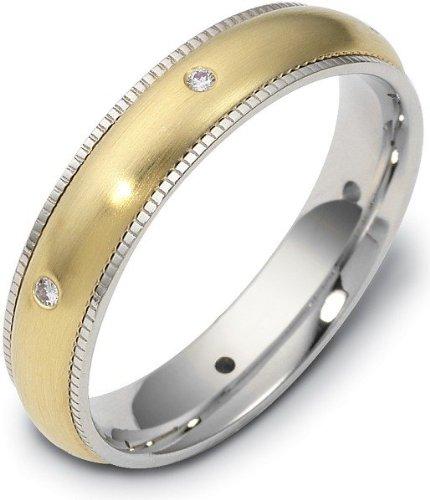 Spinning Diamond Wedding Band Ring - 4.5mm Titanium & 18 Karat Yellow Gold SPINNING Diamond Wedding Band Ring - 12.25