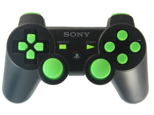 Playstation 3 Black/green Rapid Fire Custom Modded Contro...
