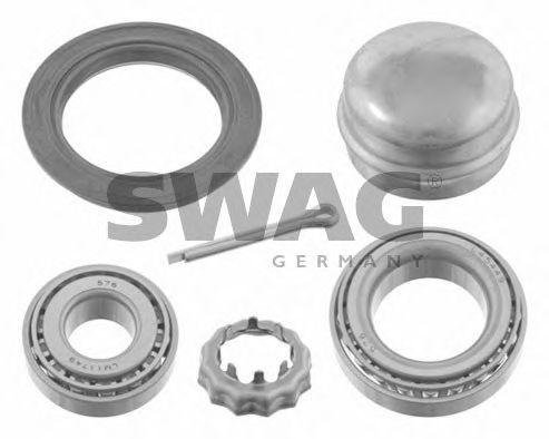 SWAG Wheel Bearing Kit Rear Axle Fits AUDI 80 SEAT VW Passat Polo APS598625 (Bearing Wheel Kit Vw)