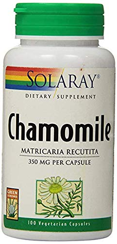 Solaray Chamomile Capsules, 350 mg, 100 Count (3 Pack)