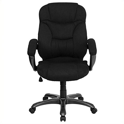 Flash Furniture High Back Black Microfiber Contemporary Executive Swivel Chair with Arms (Furniture Point Nc Outlets High)