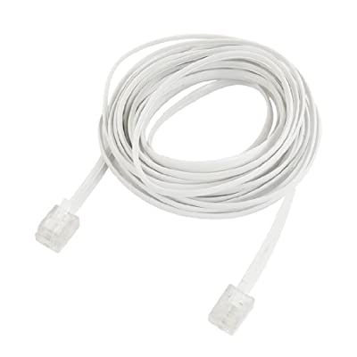 Uxcell RJ11 6P2C Male Plug Telephone Line and Cable and Wire, 13 Foot 4M for Landline Telephone