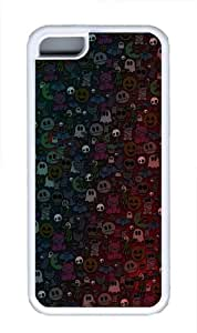 Halloween Monsters Custom iPhone 5C Case Cover TPU White