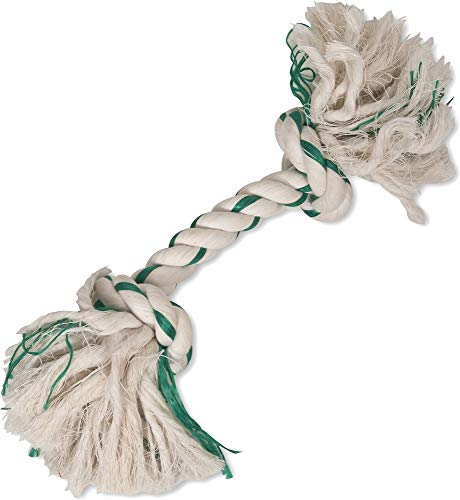 Booda Fresh N Floss 2 Knot Bone Rope Dog Toy, Large, Spearmint (Toy Booda Dog)