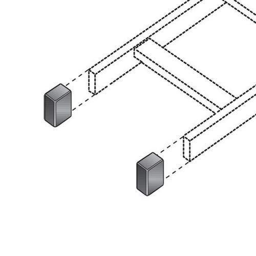 Pack of 15 Kits Black Box RM661 Ladder Rack End Cap Kit - 2 Caps