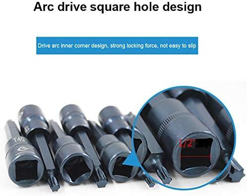 Majome 1 Pieza de Impacto Torx Socket bit Socket 1//2 pulg Cuadrado Herramienta de reparaci/ón de autom/óviles